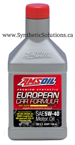 amsoil canada european synthetic oil bmw mercedes porcshe 5w-40